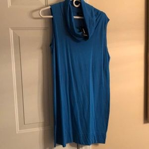 Sleeveless dress with cowel neck